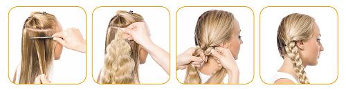Коса накладная из натуральных волос